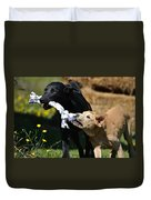 Playing Labs Duvet Cover