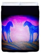 The Horses Were Playing The Blues Whole Night  Duvet Cover