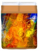 Playing With Bubbles Textured Abstract Artwork By Omaste Witkows Duvet Cover by Omaste Witkowski