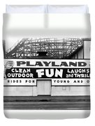 Playland At The Beach Duvet Cover