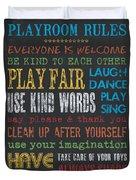 Playroom Rules Duvet Cover