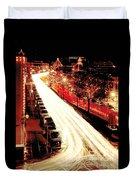 Plaza Christmas - Kansas City Duvet Cover
