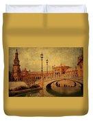 Plaza De Espana 9. Seville Duvet Cover by Jenny Rainbow