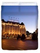 Plaza De Neptuno And Palace Hotel Duvet Cover