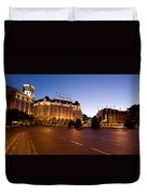 Plaza De Neptuno And Palace Hotel Duvet Cover