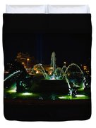 Plaza Fountain Duvet Cover