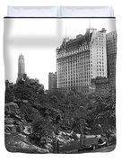 Plaza Hotel From Central Park Duvet Cover