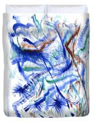 Plume Bleues Duvet Cover