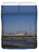 Pleasure Pier At Sunset Duvet Cover