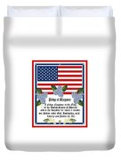 Pledge Of Allegiance Duvet Cover