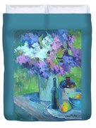 Plein Air Lilacs Duvet Cover