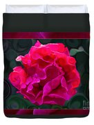 Plentiful Supplies Of Pink Peony Petals Abstract Duvet Cover