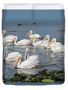 Plenty Of Pelicans Duvet Cover