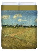 Ploughed Fields - The Furrows Duvet Cover