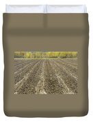 Plowed Spring Farmland Ready For Planting In Maine Duvet Cover
