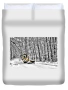 Plowin Snow Duvet Cover