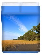 Pluff Mud And Salt Marsh At Hunting Island State Park Duvet Cover