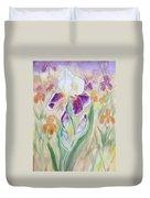 Plum Pudding Iris Duvet Cover