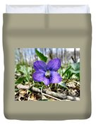 Plumb Wildflowers Duvet Cover