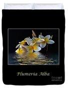 Plumeria Alba Duvet Cover
