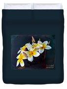 Plumeria Bouquet 2 Duvet Cover