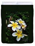 Plumeria In The Sunshine Duvet Cover