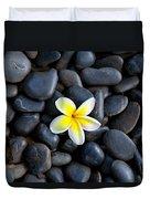 Plumeria Pebbles Duvet Cover