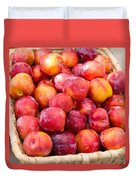 Plums In A Basket Duvet Cover