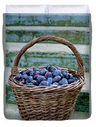 Plums In A Basket, Southern Bohemia Duvet Cover