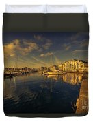 Plymouth Barbican Marina  Duvet Cover
