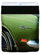Plymouth Barracuda 340-s Emblem Duvet Cover