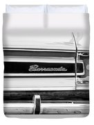 Plymouth Barracuda Taillight Emblem -0711bw Duvet Cover