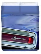 Plymouth Barracuda Taillight Emblem Duvet Cover