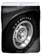 Plymouth Cuda Rallye Wheel Duvet Cover by Paul Velgos