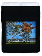 Plymouth Harbor In Autumn Duvet Cover
