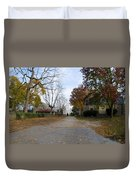 Plymouth Meeting Friends In Autumn Duvet Cover