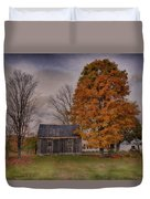 Plymouth Notch Barn In The Fall Duvet Cover