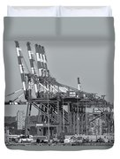 Pnct Facility In Port Newark-elizabeth Marine Terminal II Duvet Cover