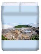Poas Volcano Crater Duvet Cover