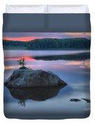 Poconos Sunset Mirror Duvet Cover