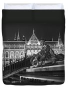 Poet And Parliament Duvet Cover