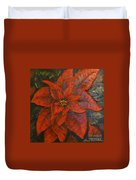 Poinsettia/ Christmass Flower Duvet Cover by Elena  Constantinescu