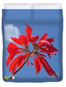 poinsettia from Madagascar Duvet Cover