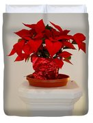 Poinsettia On A Pedestal No 1 Duvet Cover