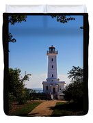 Point Abino Lighthouse Path Duvet Cover