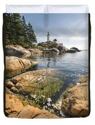 Point Atkinson Lighthouse In Vancouver Bc Vertical Duvet Cover