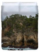 Point Lobos Coastal View Duvet Cover