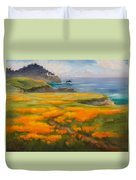 Point Lobos Poppies Duvet Cover