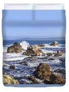 Point Lobos Rocks And Waves Duvet Cover
