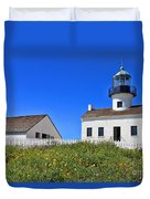 Point Loma Lighthouse By Diana Sainz Duvet Cover